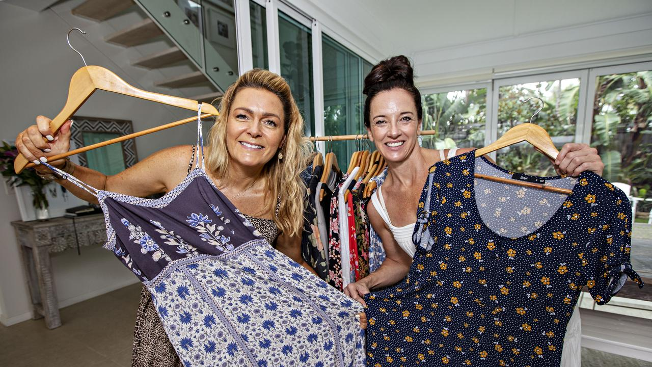 Fashion for Fire Fundraiser organisers Tarnya Sim and Kate Stoten from Casuarina are challenging Tweed women to donate five pieces of clothing to sell at a secondhand sale at Osteria on February 8.