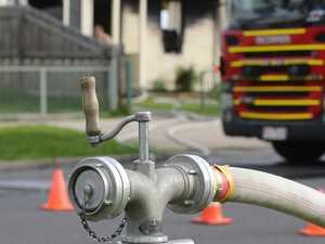 Man suffers burns after house fire