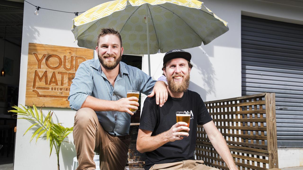 Your Mates Brewing Co's Matt Hepburn and Christian McGarry Hepburn. Photo: Lachie Millard