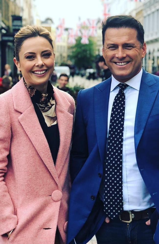 Allison Langdon and Karl Stefanovic. Instagram.