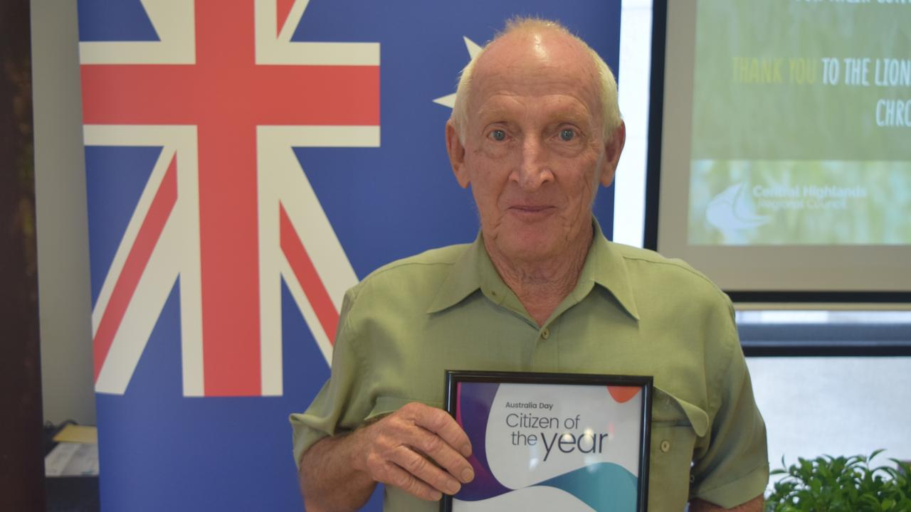 ACCOLADE: Emerald's citizen of the year, Selwyn Nutley.