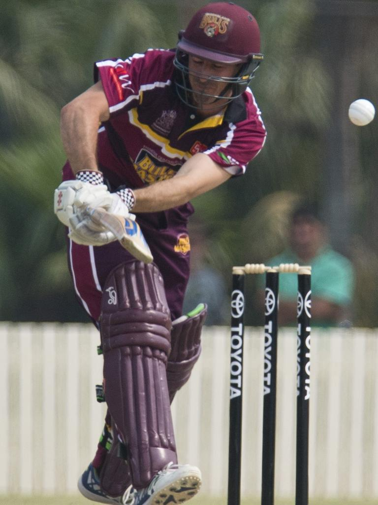 Nathan Reardon bats for Bulls Masters against Australian Country XI in Australian Country Cricket Championships exhibition match at Heritage Oval, Sunday, January 5, 2020. Picture: Kevin Farmer