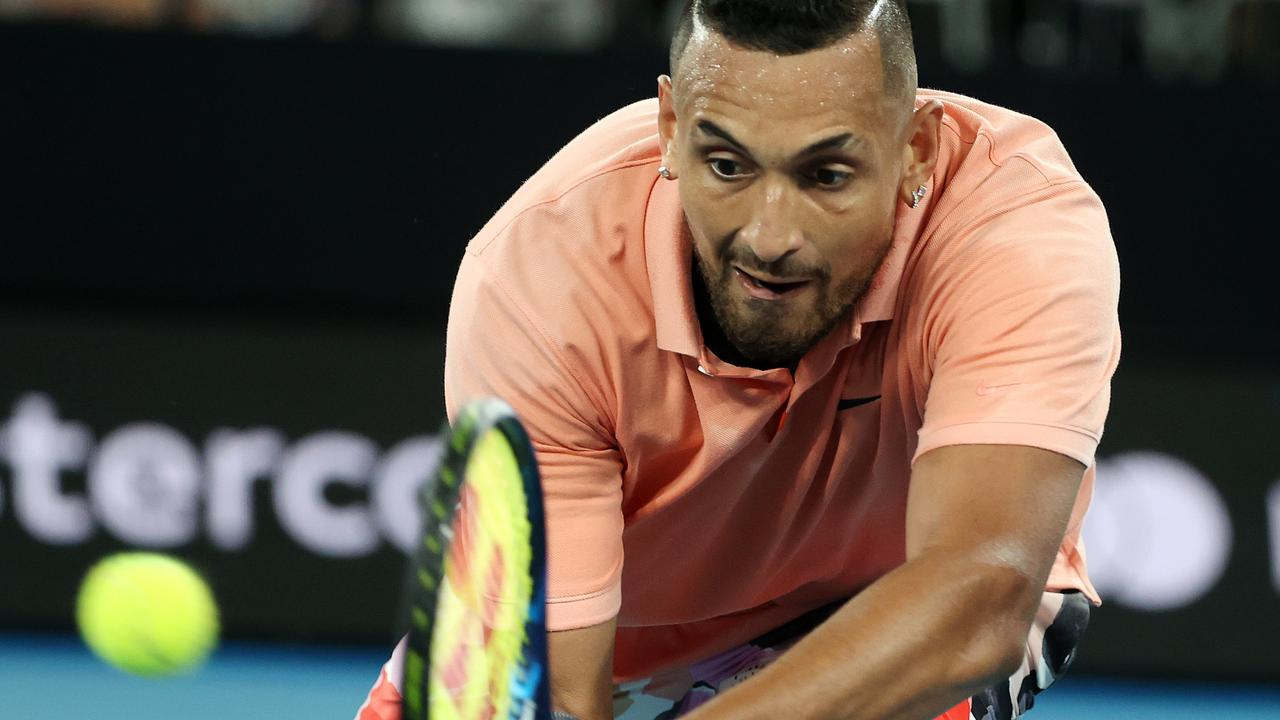 Australian Open Day 6 . 25/01/2020. Nick Kyrgios vs Karen Khachanov on Rod Laver Arena. Nick Kyrgios 4th set . Pic: Michael Klein