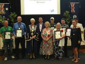 Which Central Queenslanders won an Australia Day award?