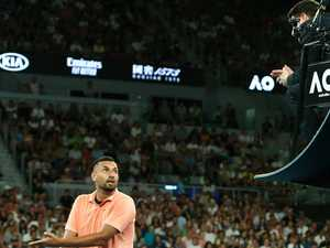 Kyrgios blasts ump: 'My hand was squirting blood'