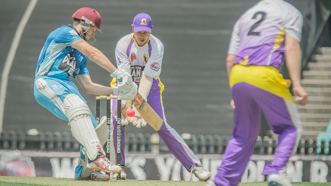 FALLING SHORT: Harry Bird top scored for the Coffs Coast Chargers in their 50-run loss to Lake Mac Attack in the Sixers Conference Final at the Sydney Cricket Ground.