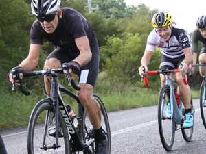 Grit, guts, crashes during road race