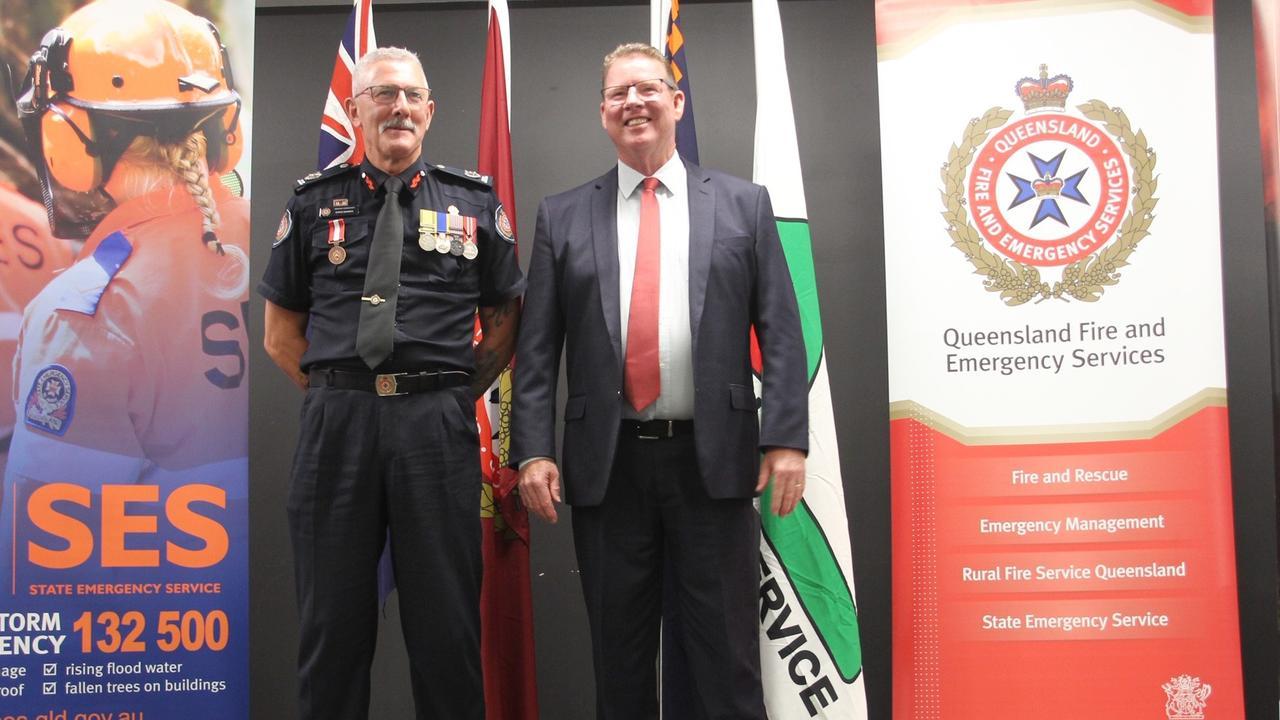 Assistant Commissioner Steve Barber and MP Barry O'Rourke