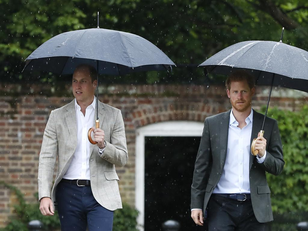 Rumours of a rift between Prince William (L) and Prince Harry (R) have been swirling for years. Picture: Kirsty Wigglesworth
