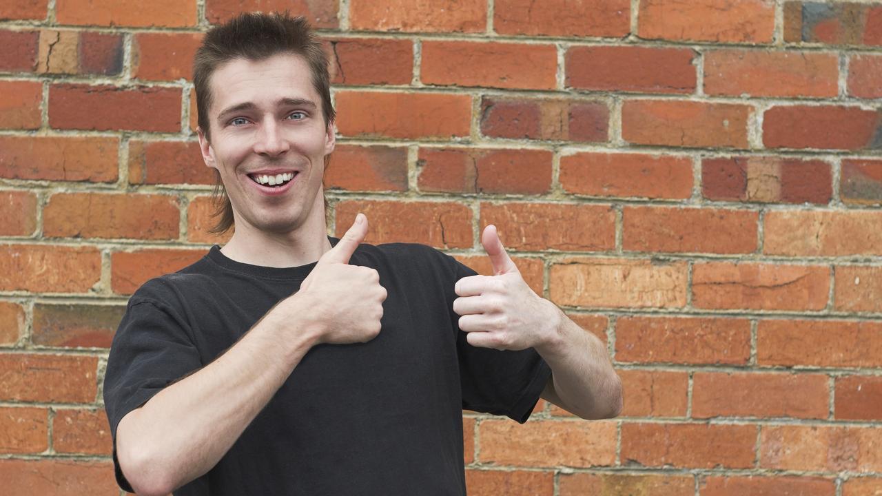 Generic bogan bloke giving thumbs up istock
