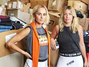 Designer clothes donated to homeless bushfire victims