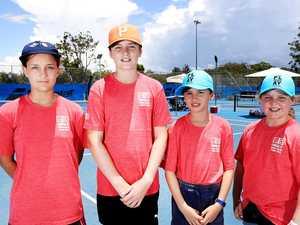 Juniors have a ball on court at international tournament