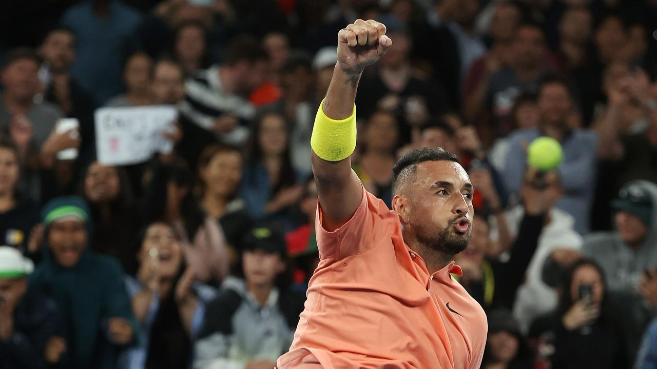 THRILLER: Australia's Nick Kyrgios had a sensational five sets win at the Australian Open last night. Picture: Michael Klein