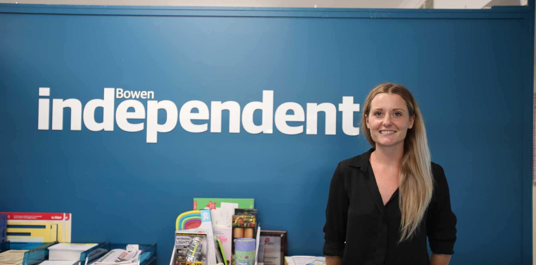 New journalist Anna Wall joins the team at the Bowen Independent.