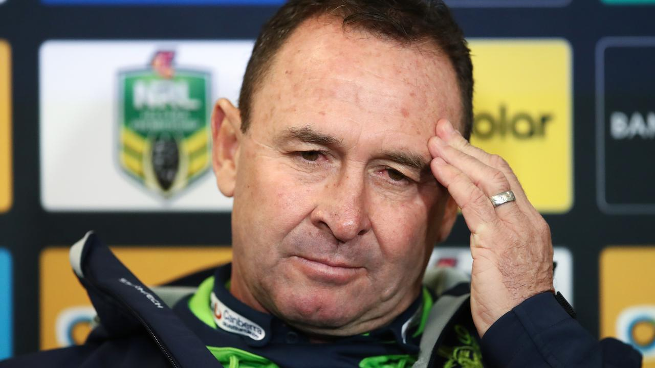 Raiders coach Ricky Stuart doesn't need this headache. Photo: AAP Image/Brendon Thorne