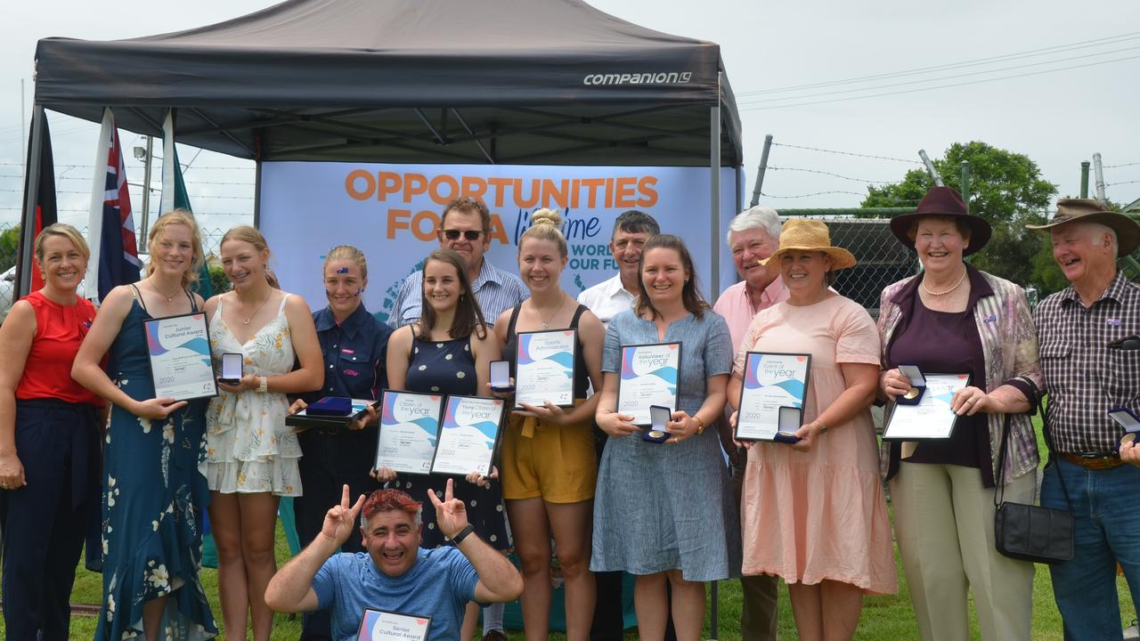 WINNERS: Australia Day award winners at Monto's ceremony on January 26. Picture: Sam Turner.