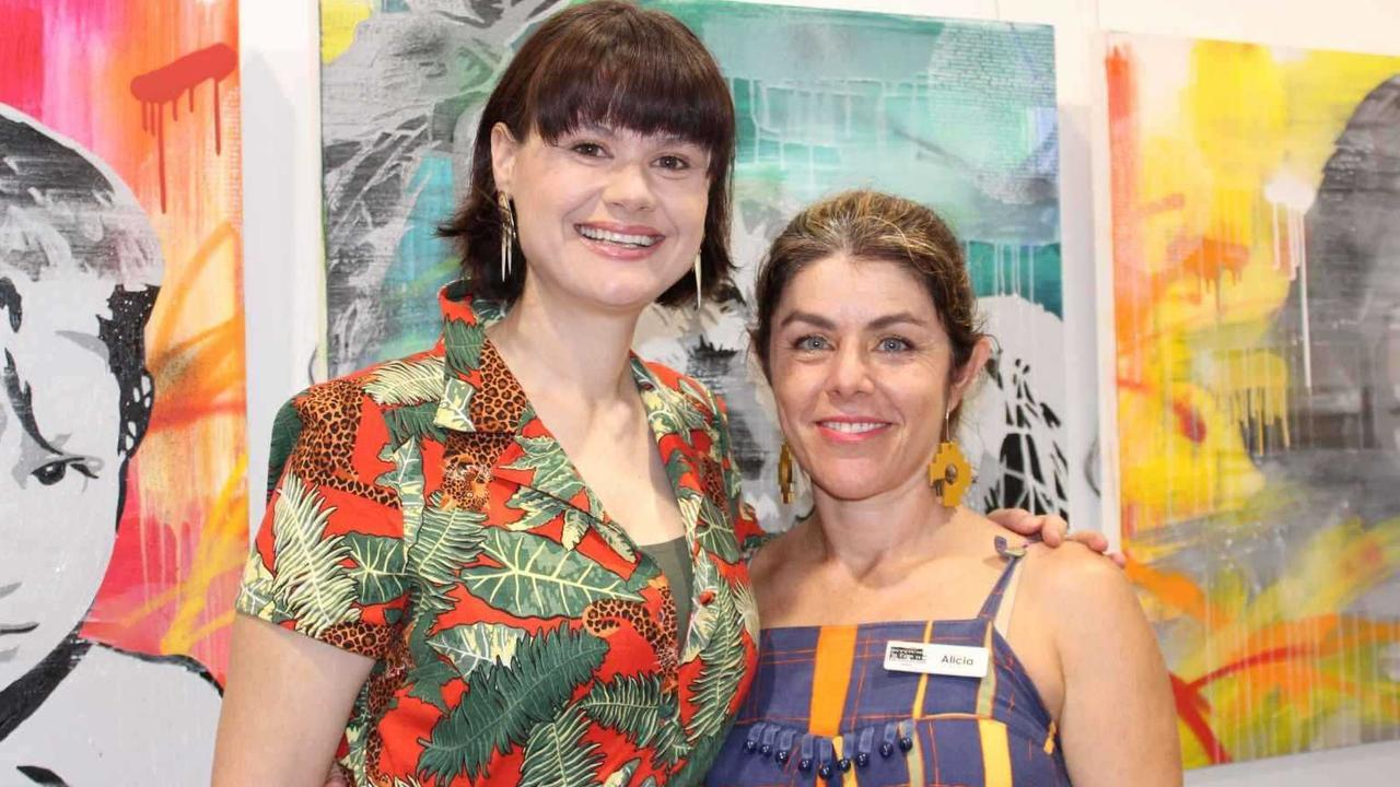 EDGY ART: Co-Curators of 40 under 40, Amanda Bennetts and Alicia Sharples at the opening night at The Cooroy Butter Factory Arts Centre.