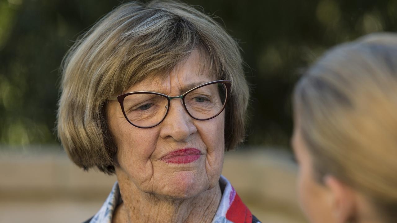 Margaret Court outside her home in City Beach, Perth.