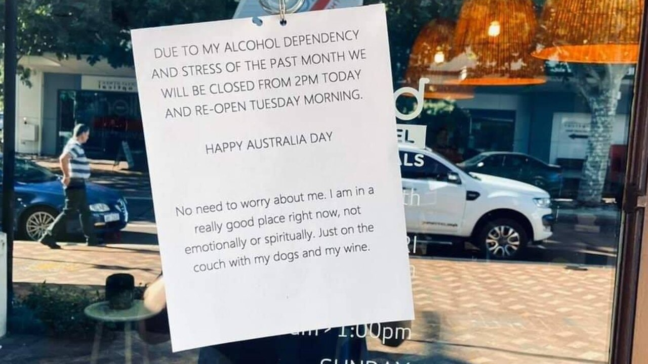 Aussies have congratulated the shop owner for their no-nonsense excuse. Picture: Facebook/The Bell Tower Times