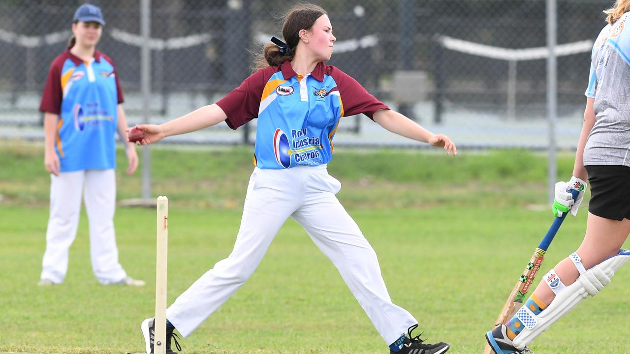 North Rockhampton Tigers bowler Chloe Coombe in Sunday's final. Picture: Jann Houley