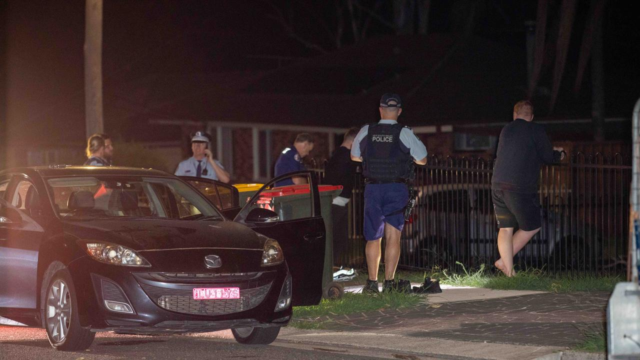 Two men were found with stab wounds near Kingswood Train Station in Sydney's west just after midnight. Photographer Dean Asher