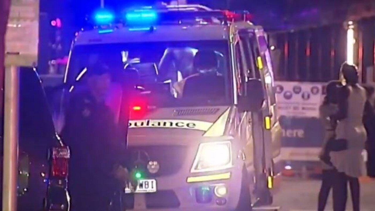 The brawl started when a group of people entered Brisbane CBD hotel River City Apartments. Picture: 9 News