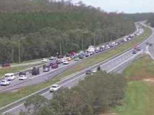 Highway delays worsen after traffic pileup