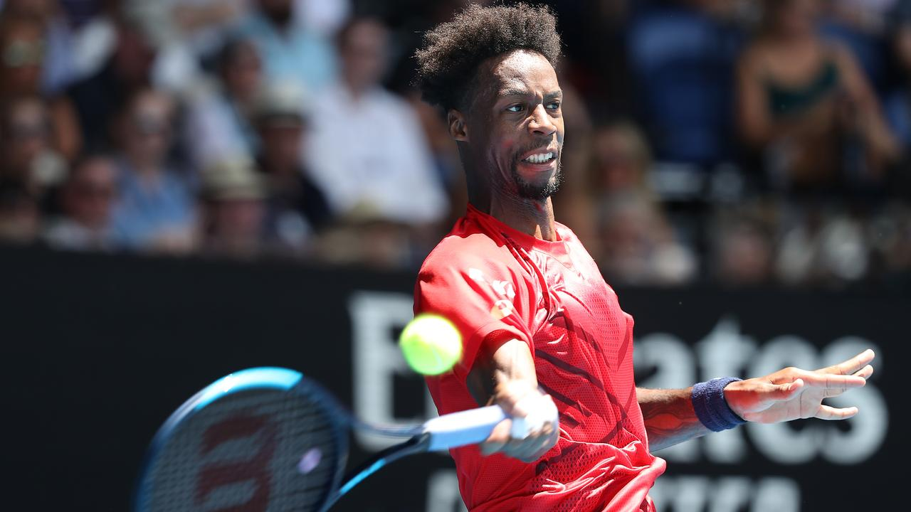 Gael Monfils couldn't match it with the Austrian. Picture: Getty Images