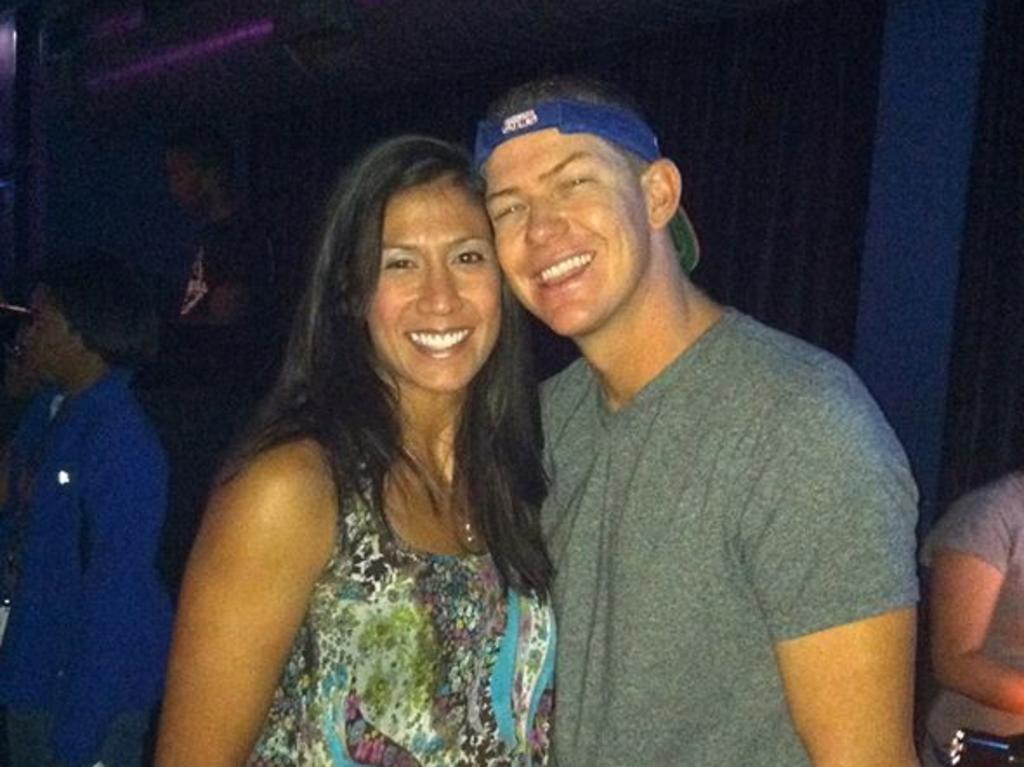 Christina Mauser with husband Matt.