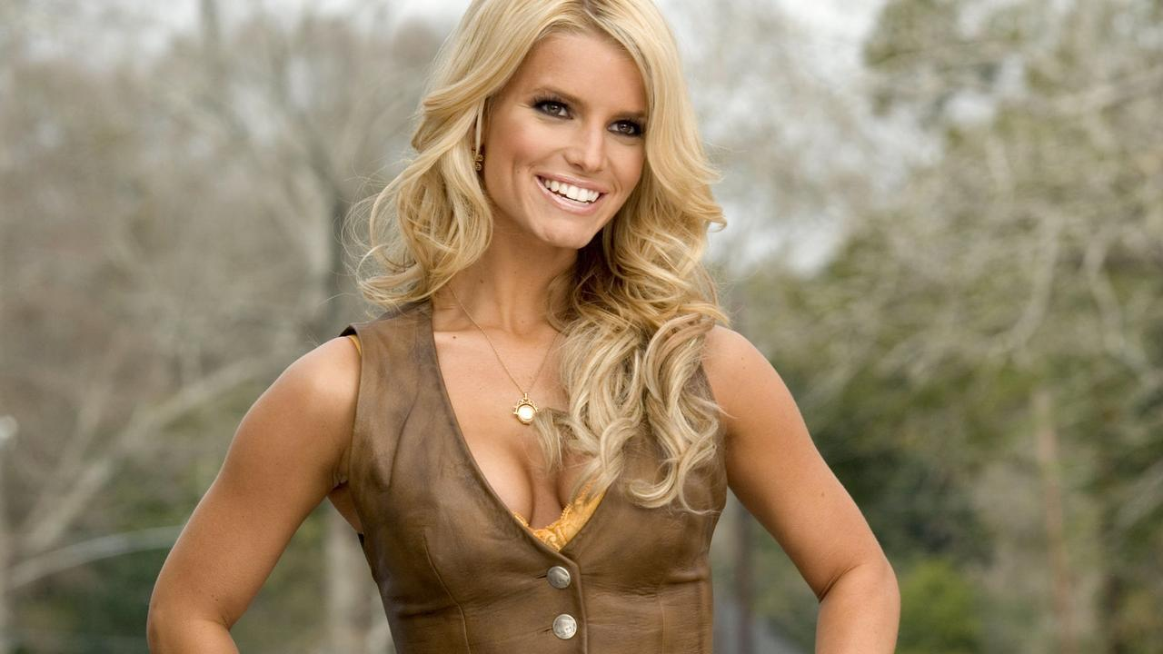 Jessica Simpson as Daisy Duke in the 2005 movie remake of The Dukes of Hazard.