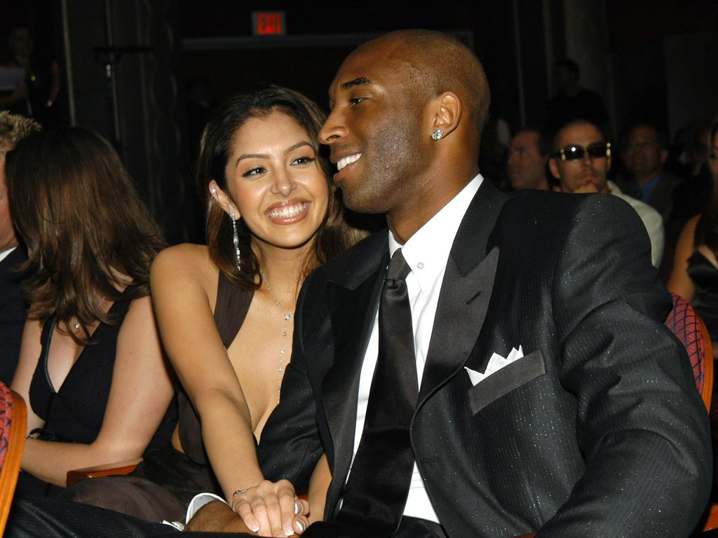Kobe Bryant and his wife Vanessa at the ESPY Awards in 2003.