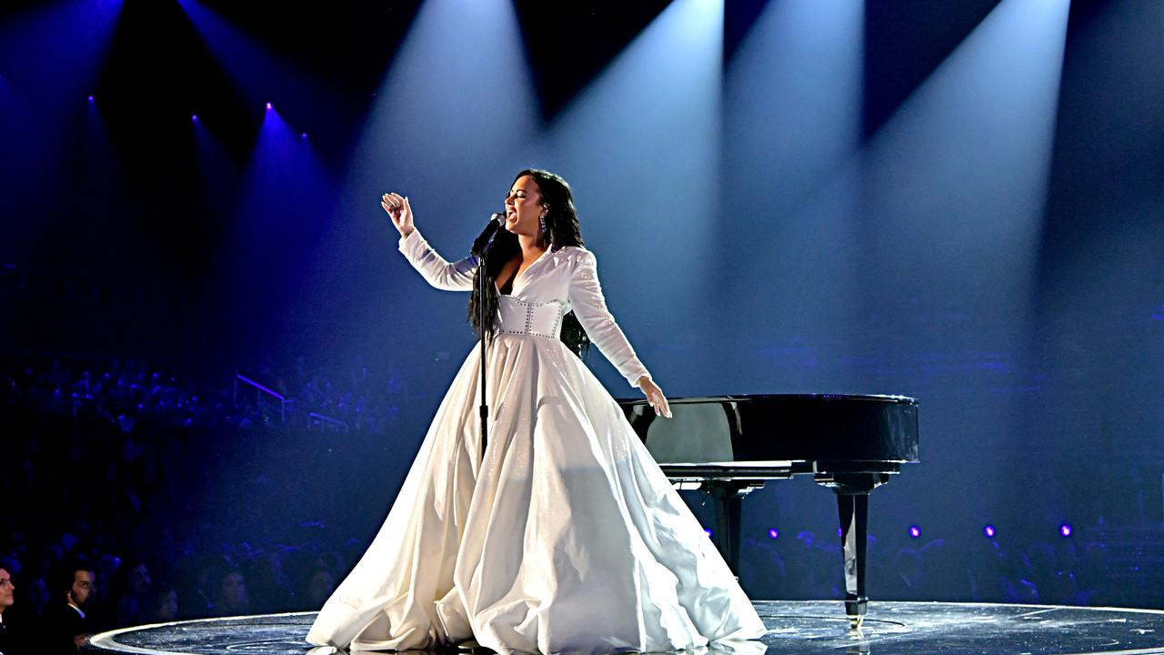 Demi Lovato made her long-awaited return to the stage with a moving performance. Picture: Getty Images.