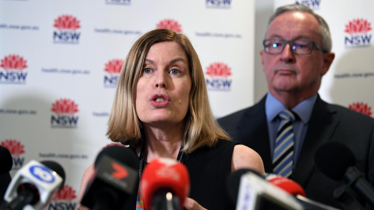 NSW Chief Health Officer Dr Kerry Chant and NSW Health Minister Brad Hazzard. Picture: Joel Carrett