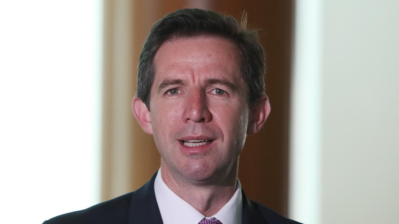 Trade and Tourism Minister Simon Birmingham confirmed China has banned outgoing tour groups to help contain the spread of the coronavirus. Picture: Kym Smith