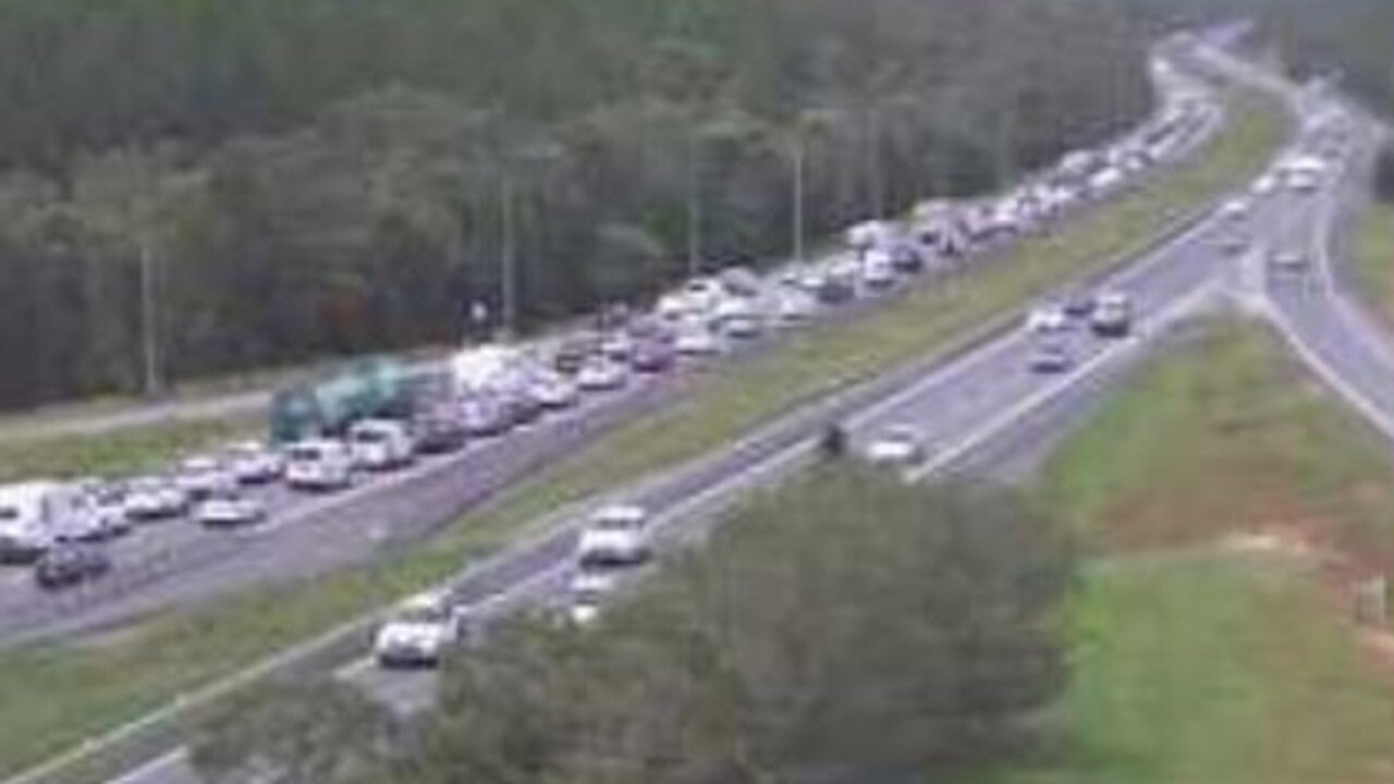 Traffic congestion on the Bruce Hwy between the Sunshine Coast and Brisbane is causing major delays. Picture: Supplied