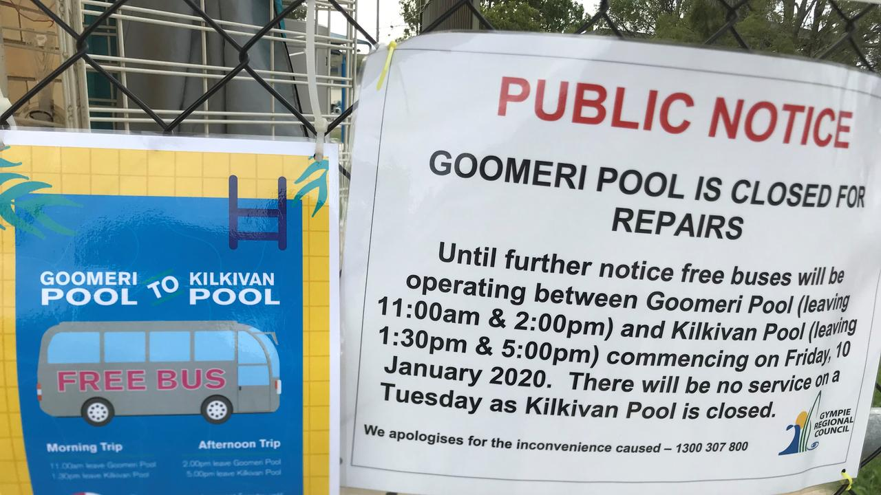 Goomeri Pool is closed and residents have to catch a bus to Kilkivan for a swim. (Photo: Jessica McGrath)