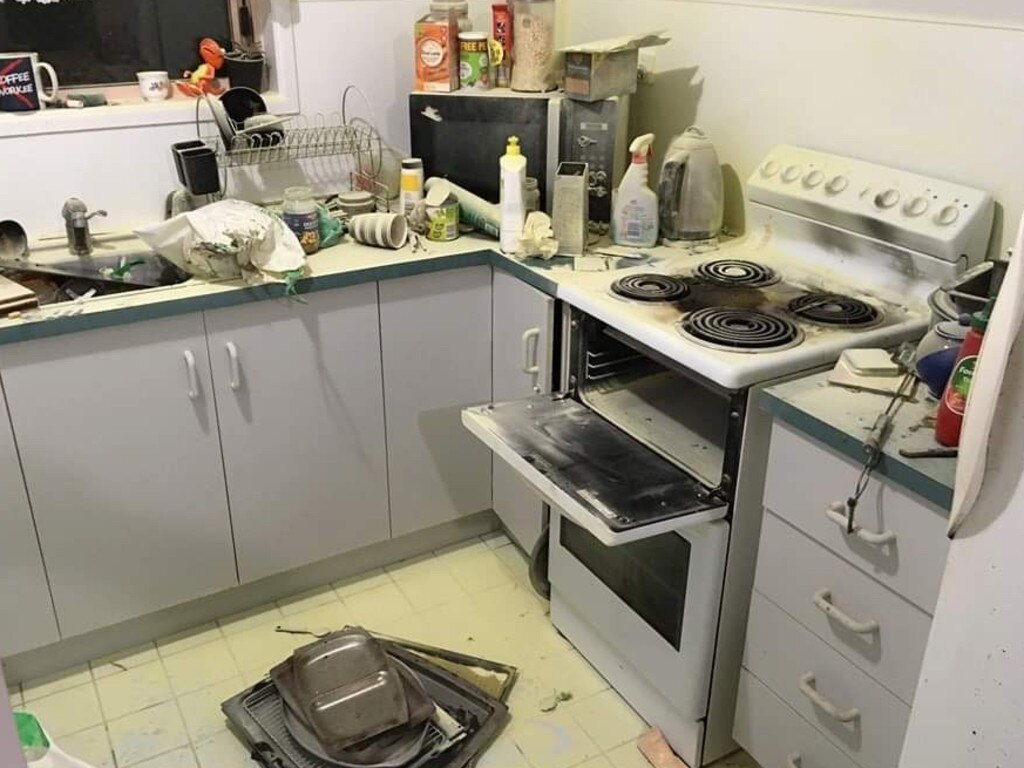 Mr McDowell was hospitalised on January 26 after a small fire started in his Borilla St unit kitchen.
