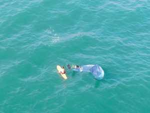 Kite surfer Byron Bay Lifeguards