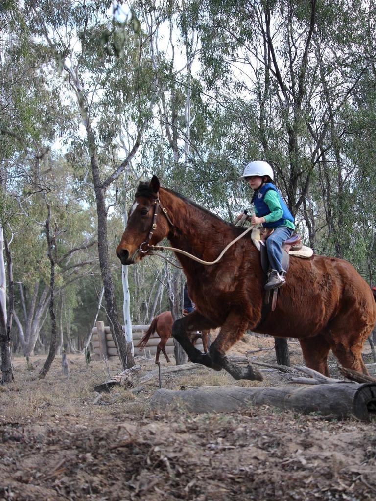 RIDING HIGH: Lyndall Southern from St George pony Club.