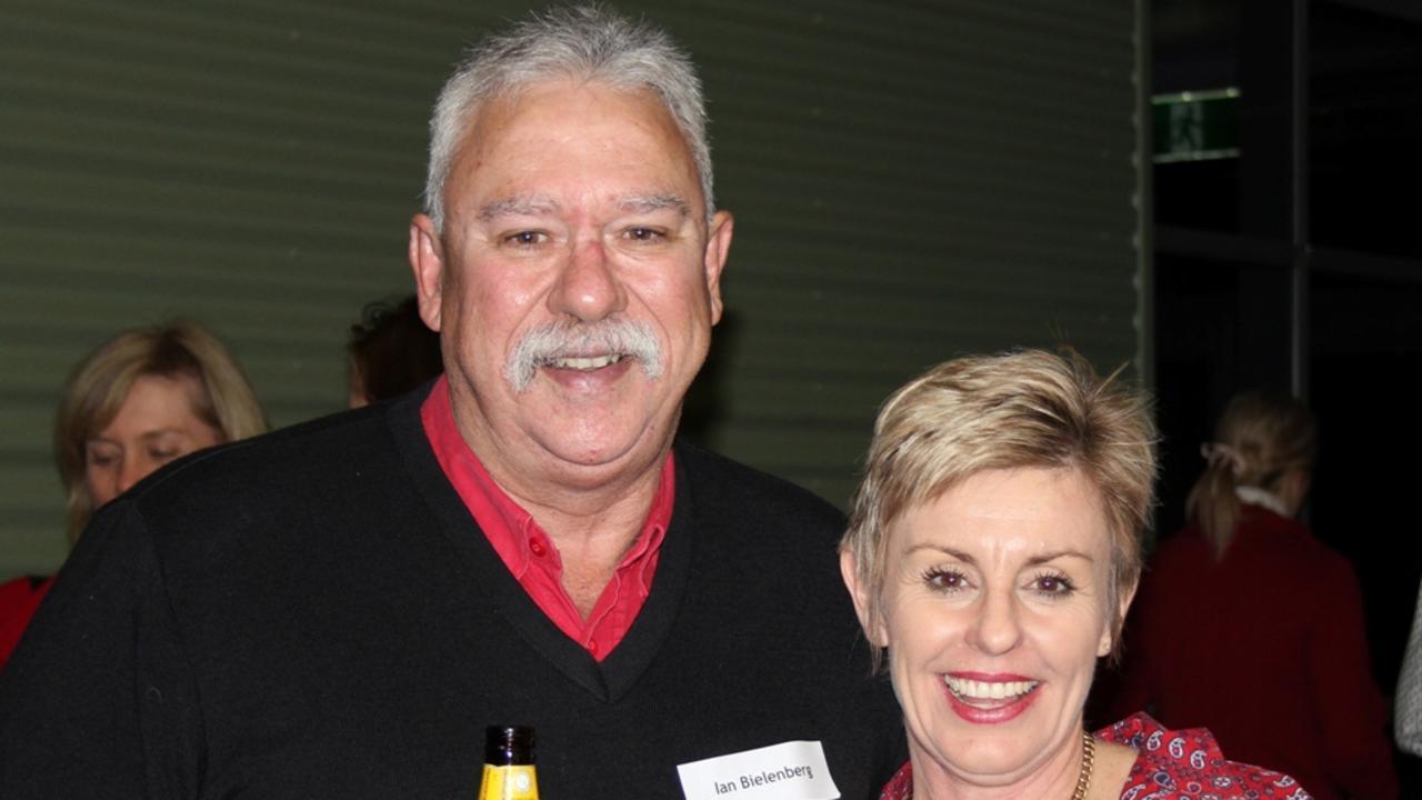 RETIRING: Ian Bielenberg and Rowena Arthur in 2012.