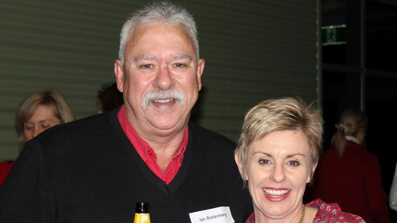 RETIRING: Ian Bielenberg and Rowena Arthur in 2012.