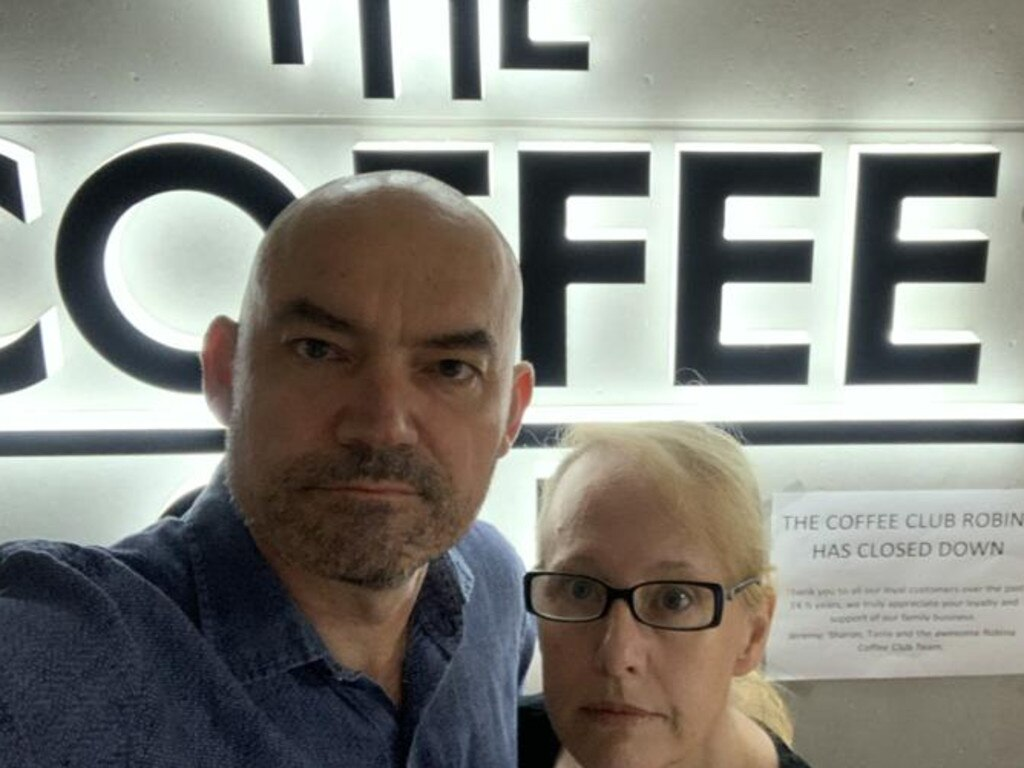 Coffee Club Robina franchisee Jeremy Swift and his wife Sharon are taking the coffee giant to court. Picture: Supplied