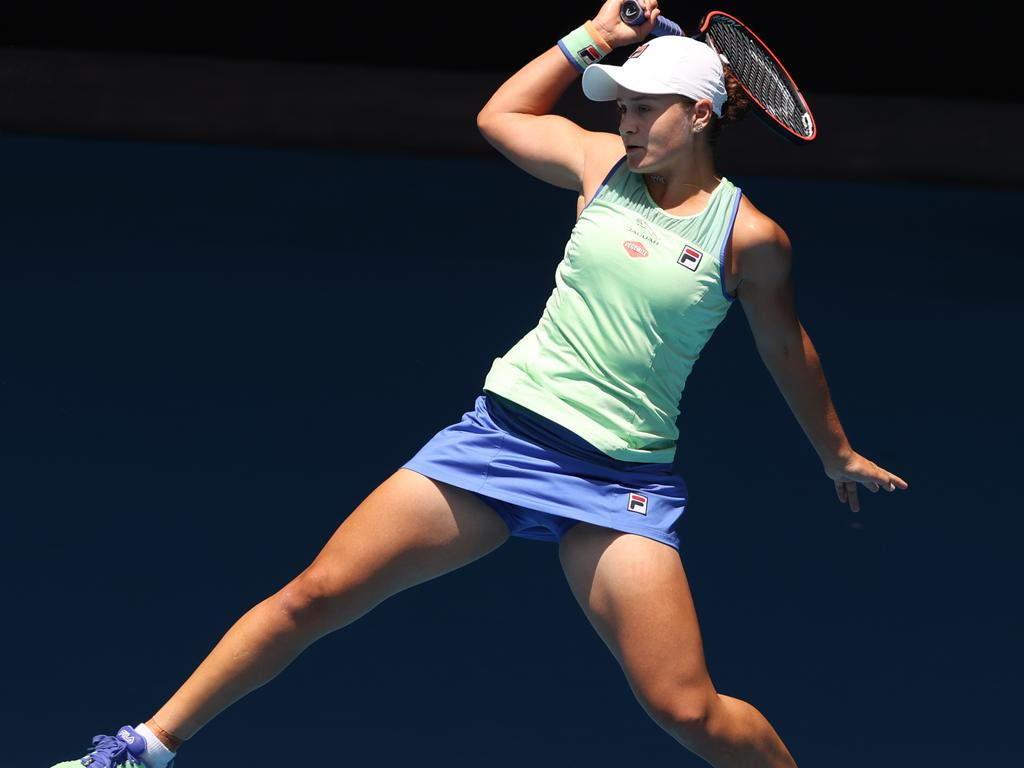 Ash Barty was unbreakable against Petra Kvitova. Picture: Michael Klein