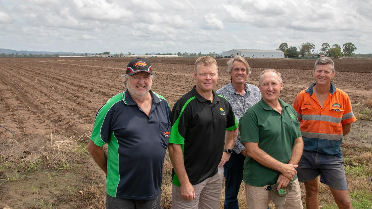 WATER PROJECT: Lockyer Valley irrigators Tim Linan, Michael Sippel, Greg Bannf, Gordon Van der Est and Anthony Staatz say upcoming meetings are the biggest decision farmers have faced in a decade. Picture: Dominic Elsome