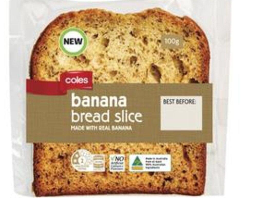 Coles Banana Bread single slice
