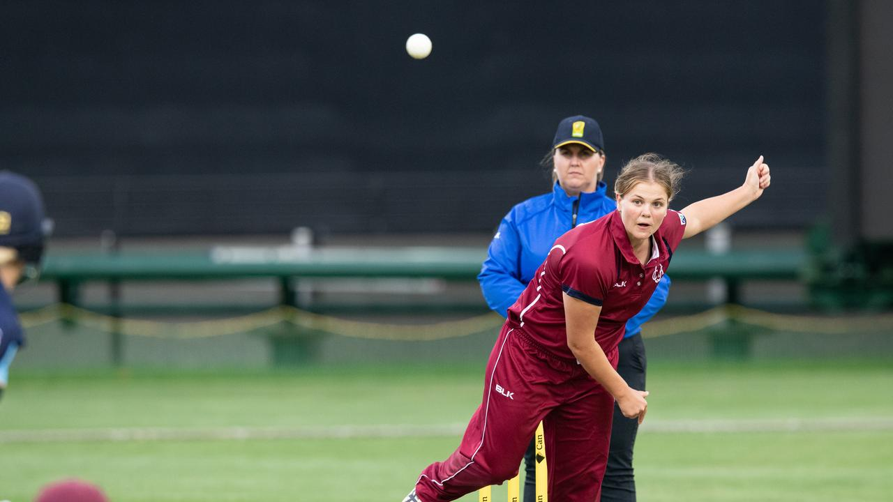 UNSTOPPABLE: Georgia Voll claimed the Betty Wilson Medal for player of the tournament at the U18s National Championships. Photo: Brody Grogan/Cricket Australia