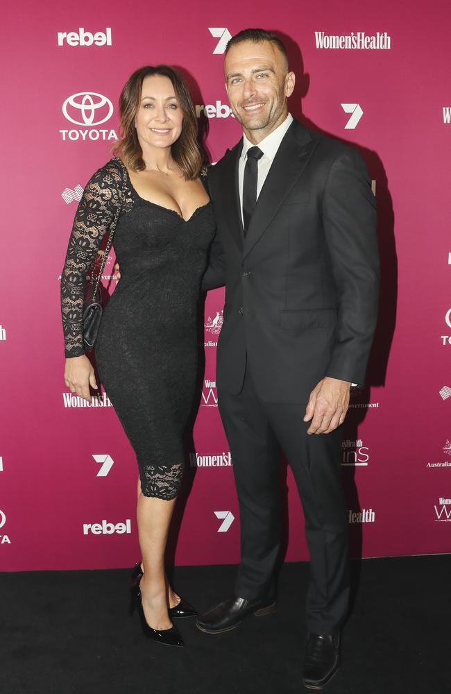 Happier times: Michelle Bridges and Steve Willis. Picture: Dylan Robinson