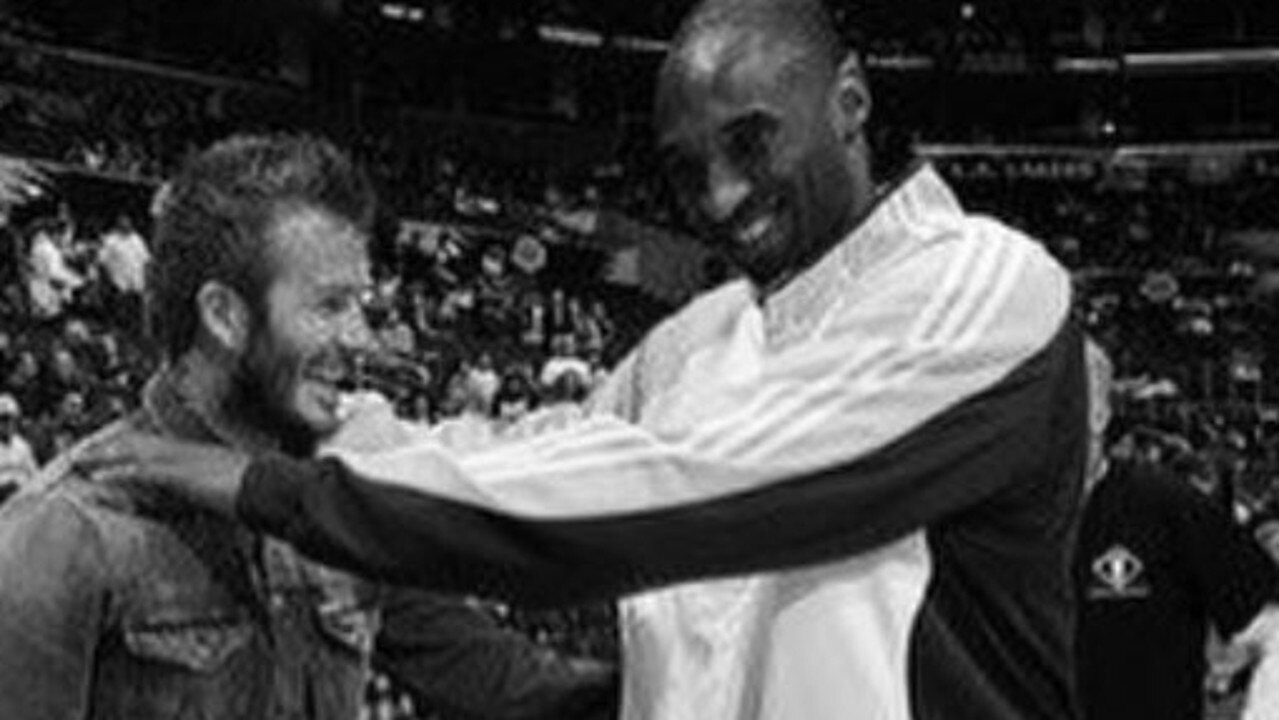 David Beckham and Kobe Bryant in a photo from Beckham's Instagram account. Picture: Supplied