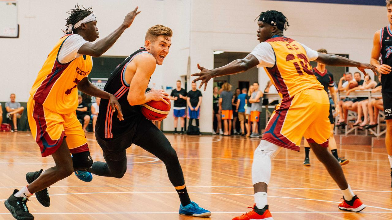ON THE CHARGE: Tyler Allen for the Sunshine Coast Behoyz. Picture: Warwick Gow.