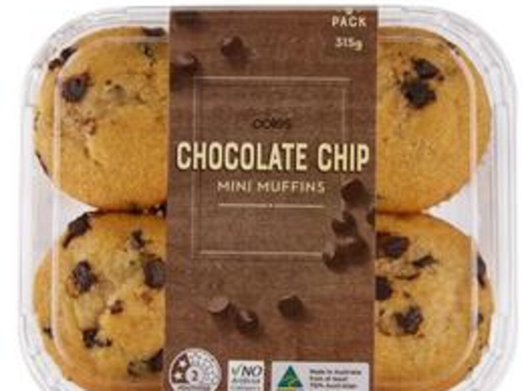 Coles – Chocolate Chip, Mini Muffins
